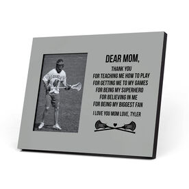 Guys Lacrosse Photo Frame - Dear Mom Thank You