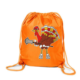Guys Lacrosse Sport Pack Cinch Sack - Top Cheddar Turkey Tom