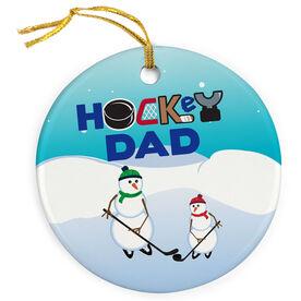 Hockey Porcelain Ornament Dad