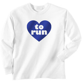 Youth T-Shirt Long Sleeve Heart To Run