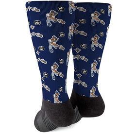 Seams Wild Baseball Printed Mid-Calf Socks - Coco Loco (Pattern)