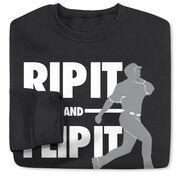 Baseball Crew Neck Sweatshirt - Rip It Flip It
