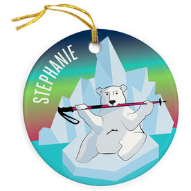 Skiing Porcelain Ornament Polar Bear
