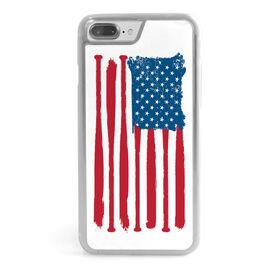 Softball iPhone® Case - American Flag