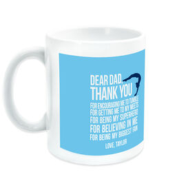 Gymnastics Coffee Mug Dear Dad Female Silhouette