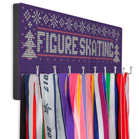 Figure Skating Hooked on Medals Hanger - Christmas Knit