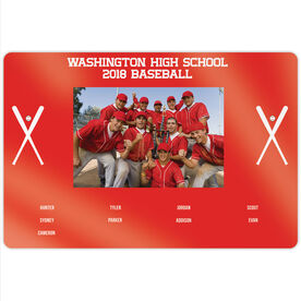 "Baseball 18"" X 12"" Aluminum Room Sign - Team Photo With Roster"