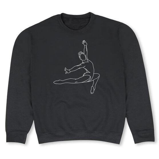 Gymnastics Crew Neck Sweatshirt - Gymnast Sketch