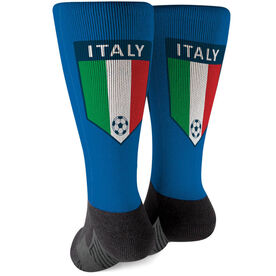 Soccer Printed Mid-Calf Socks - Italy