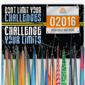 Running Large Hooked on Medals and Bib Hanger - Don't Limit Your Challenges