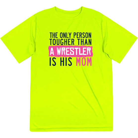 Wrestling Short Sleeve Performance Tee - Tougher Than A Wrestler Mom