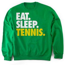 Tennis Crew Neck Sweatshirt Eat. Sleep. Tennis.