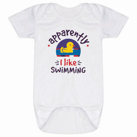 Swimming Baby One-Piece - Apparently I Like Swimming