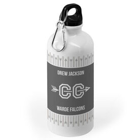 Cross Country 20 oz. Stainless Steel Water Bottle - Team with Arrows