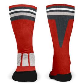 Customized Printed Mid Calf Team Socks Momentum
