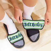 Field Hockey Repwell® Sandal Straps - Field Hockey With Stripes