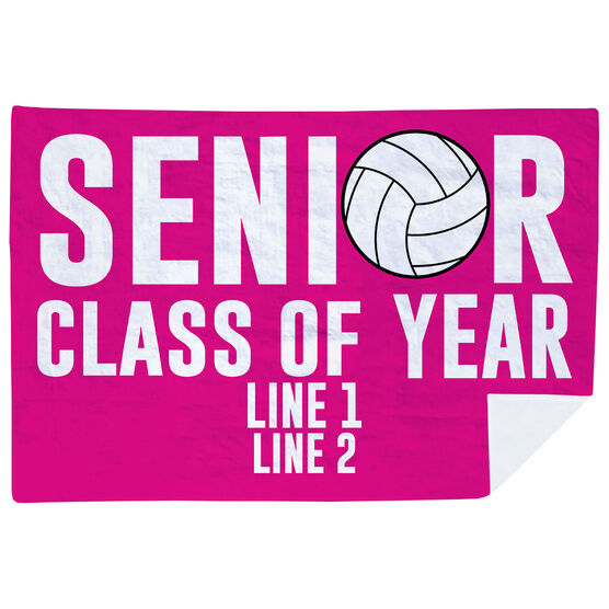 Volleyball Premium Blanket - Personalized Senior Class Of