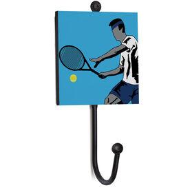 Tennis Medal Hook - Closeup Male Player