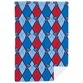 Lacrosse Premium Blanket - Lacrosse Stick Argyle Pattern