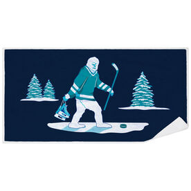 Hockey Premium Beach Towel - Hockey Yeti