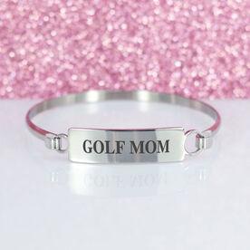 Golf Engraved Clasp Bracelet - Mom (Text)