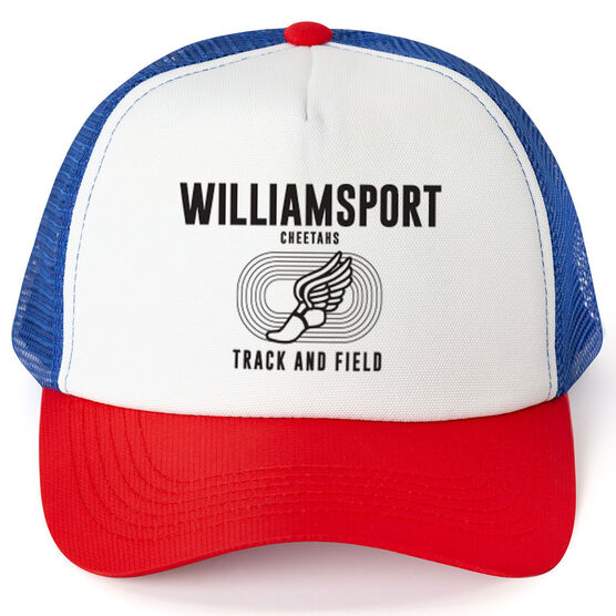 Track & Field Trucker Hat - Team Name With Text