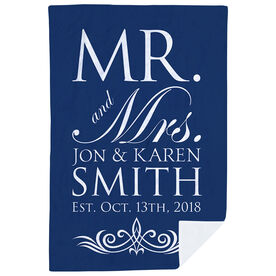 Personalized Premium Blanket - Our Wedding Day Cheers