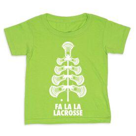 Guys Lacrosse Toddler Short Sleeve Tee - Fa La La Tree