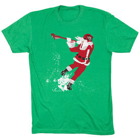 Guys Lacrosse Short Sleeve T-Shirt - Santa Laxer