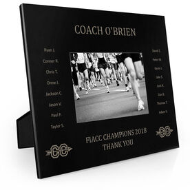 Cross Country Engraved Picture Frame - Team Name With Roster (Coach)
