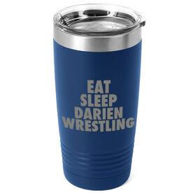 Wrestling 20 oz. Double Insulated Tumbler - Personalized Eat Sleep Wrestling