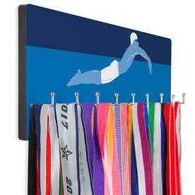 Swimming Hooked on Medals Hanger - Swimmer Guy