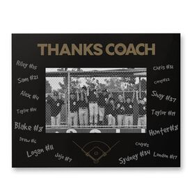 Baseball Engraved Frame - Thanks Coach
