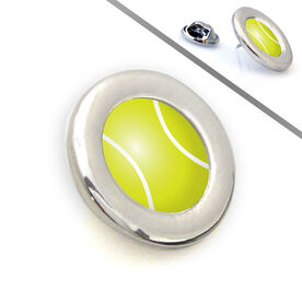 Tennis Lapel Pin Turned Tennis Ball