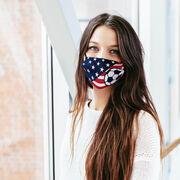 Soccer Face Mask - USA Flag