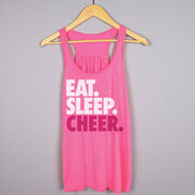 Cheerleading Flowy Racerback Tank Top - Eat Sleep Cheer