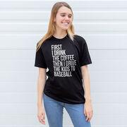 Baseball Short Sleeve T-Shirt - Then I Drive The Kids To Baseball
