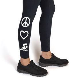 Swim Leggings Peace Love Swim