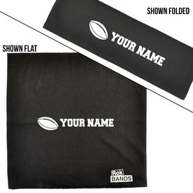 RokBAND Multi-Functional Headband - Personalized Name Football Ball