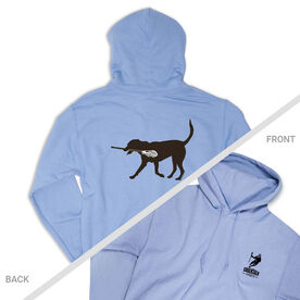 Guys Lacrosse Hooded Sweatshirt - Max The Lax Dog (Logo Collection)