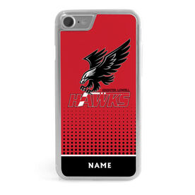 iPhone® Case - Greater Lowell Hawks Hockey Logo with Number