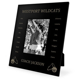 Cheerleading Engraved Picture Frame - Team Name With Roster (Coach)