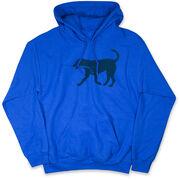 Hockey Hooded Sweatshirt - Rocky The Hockey Dog