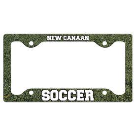Custom Soccer Team License Plate Holders