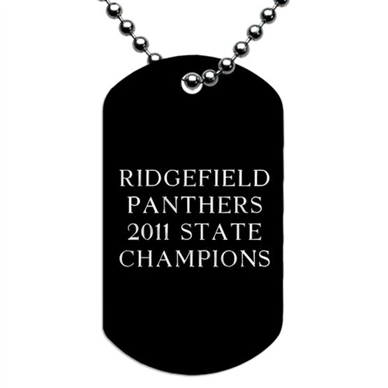 Engraved Personalized Text Dog Tag Necklaces - Vertical