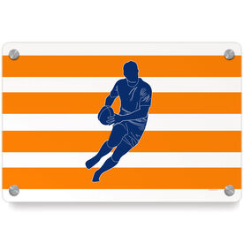 Rugby Metal Wall Art Panel - Player