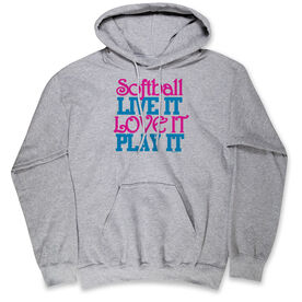 Softball Standard Sweatshirt Softball Live It Love It Play It