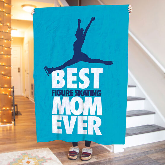 Figure Skating Premium Blanket - Best Mom Ever