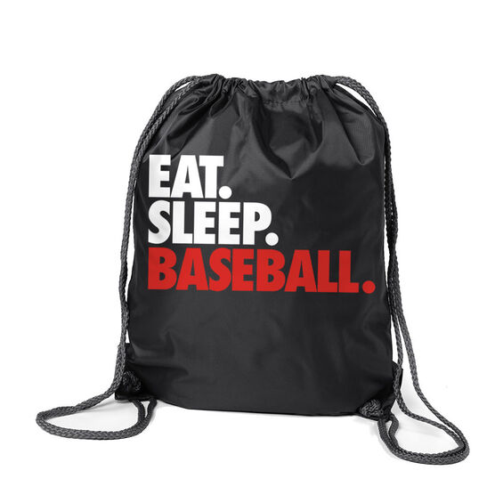 Baseball Sport Pack Cinch Sack Eat. Sleep. Baseball.