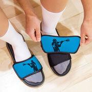 Guys Lacrosse Repwell® Slide Sandals - Lax Jumpshot